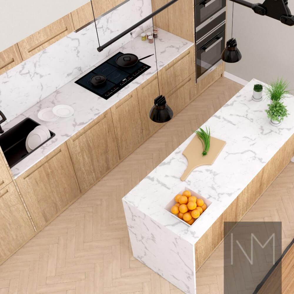 Bleiches Holz ist wieder in der Küche