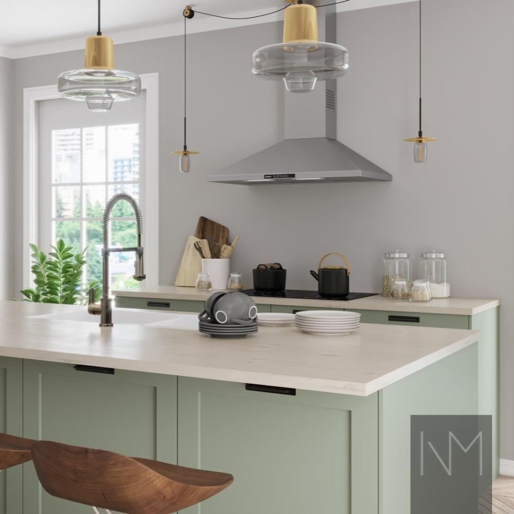 Küchenschränke Design - Was ist mit einer Küche ohne Oberschränke?