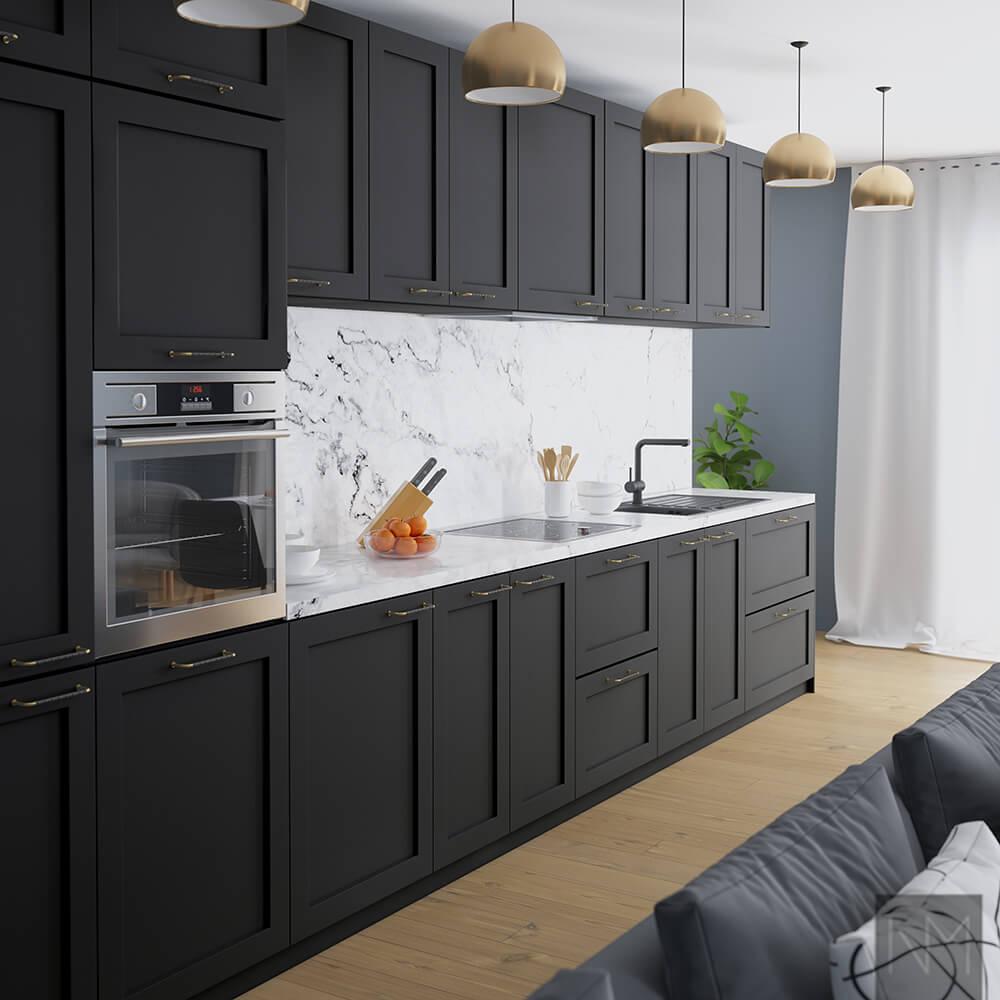 Ideen zum Küchendesign - Ganz in schwarz