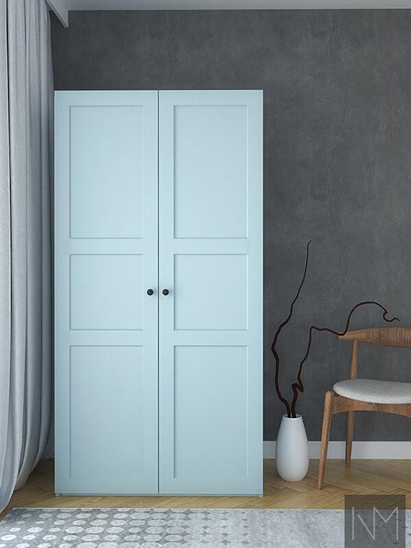 Wardrobe doors in colour: KILDEN 4423. NCS 2215-R99B