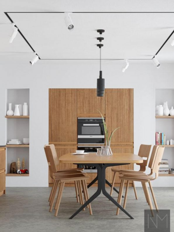 Inline Bamboo fronts for method kitchen in natural colour