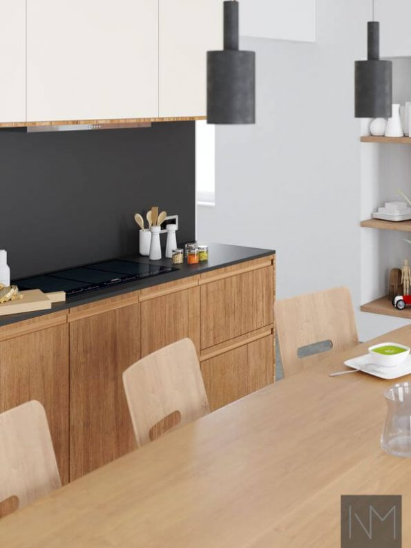 Inline fronts to method kitchen from Ikea