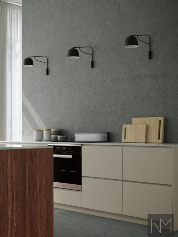 Kitchen doors in Bamboo+ Instyle design in Mocca and Instyle design in Jotun Smooth white (2)