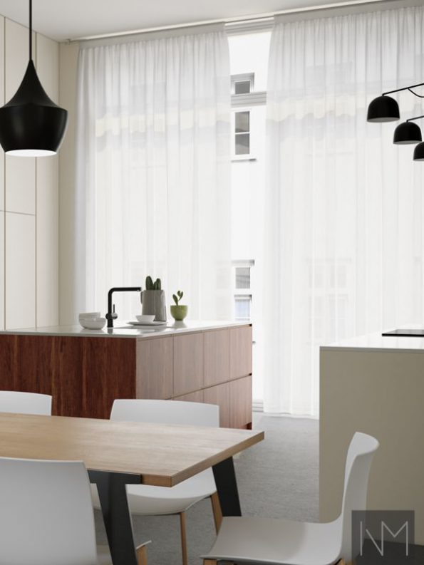Kitchen fronts in Bamboo+ Instyle design in Mocca and Instyle design in Jotun Smooth white