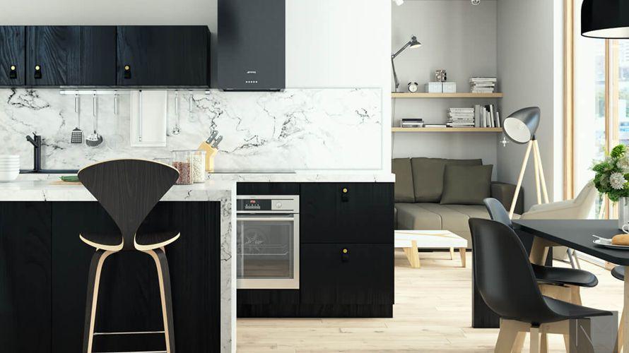 Keukeneilanden met stoelen