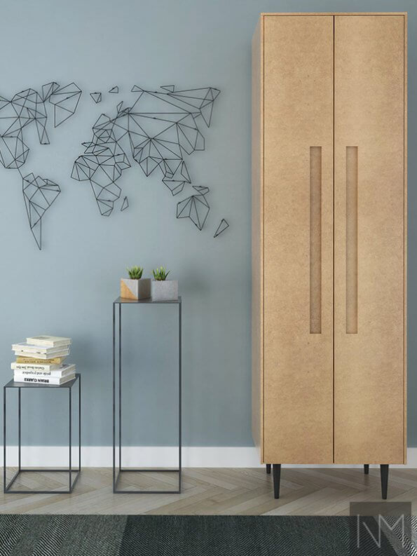 wooden thin wardrobe