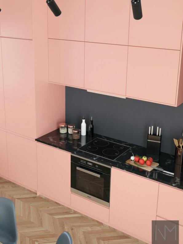 Kjøkkenfronter i INSTYLE design , BASIC fronter ble brukt på overskap.