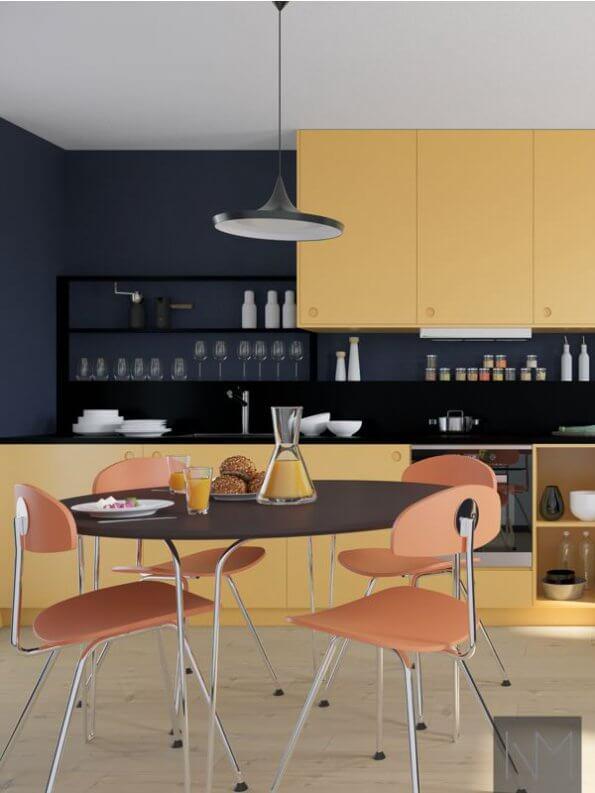 Kjøkkenfronter til metod i fargen Farrow & Ball. Sudbury Yellow