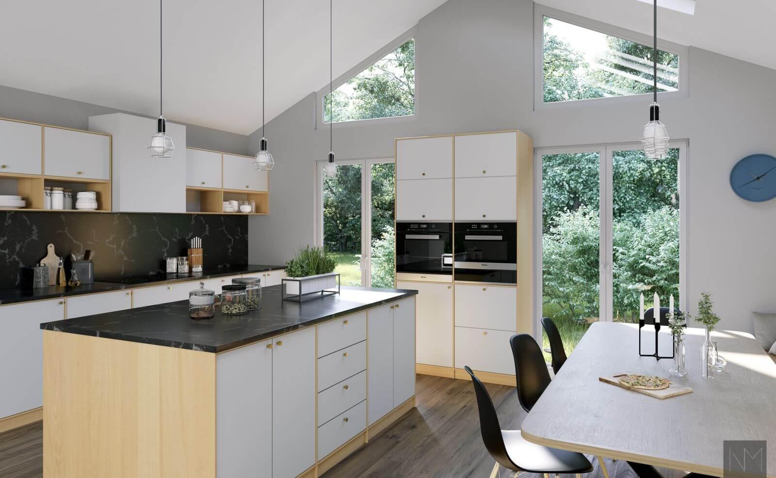 Kjøkkenfronter i BASIC design i klassisk hvit , NCS S0500-N