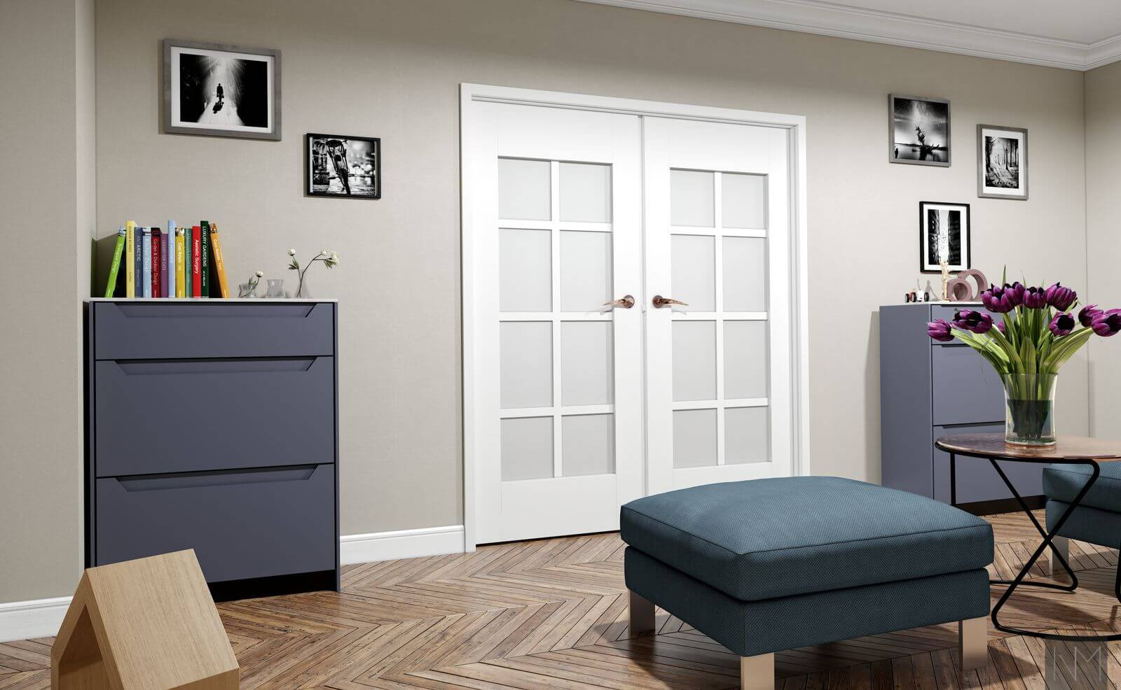ELEGANCE .4143 Hule .NCS S7010-R70B. Fronter til IKEA metod