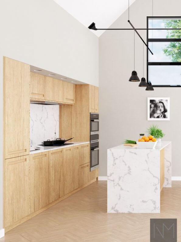 Bambus kjøkkenfronter i fargen :natural