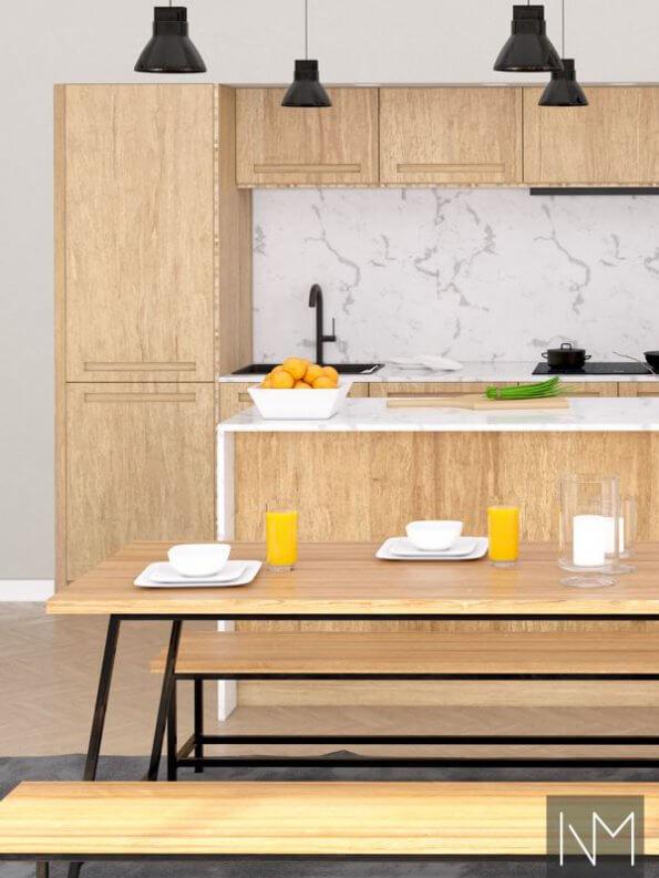 Ontime kjøkkenfronter i komprimert bambus