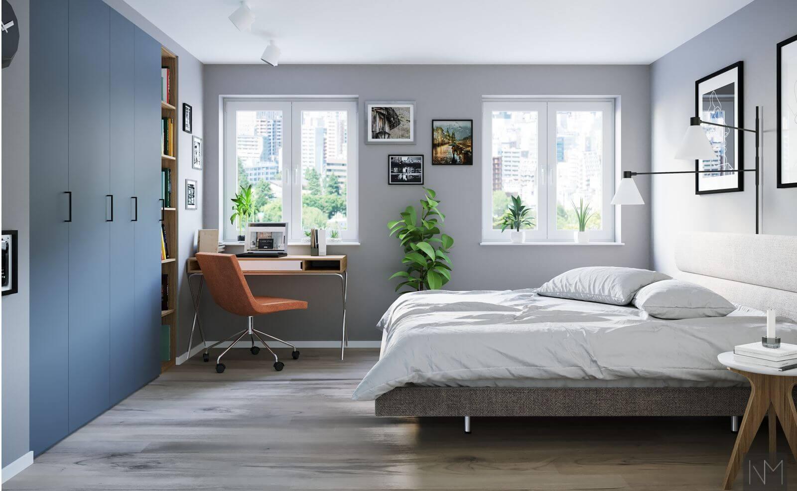 Fronter til IKEA PAX garderobesystem. NCS S3030-R90B