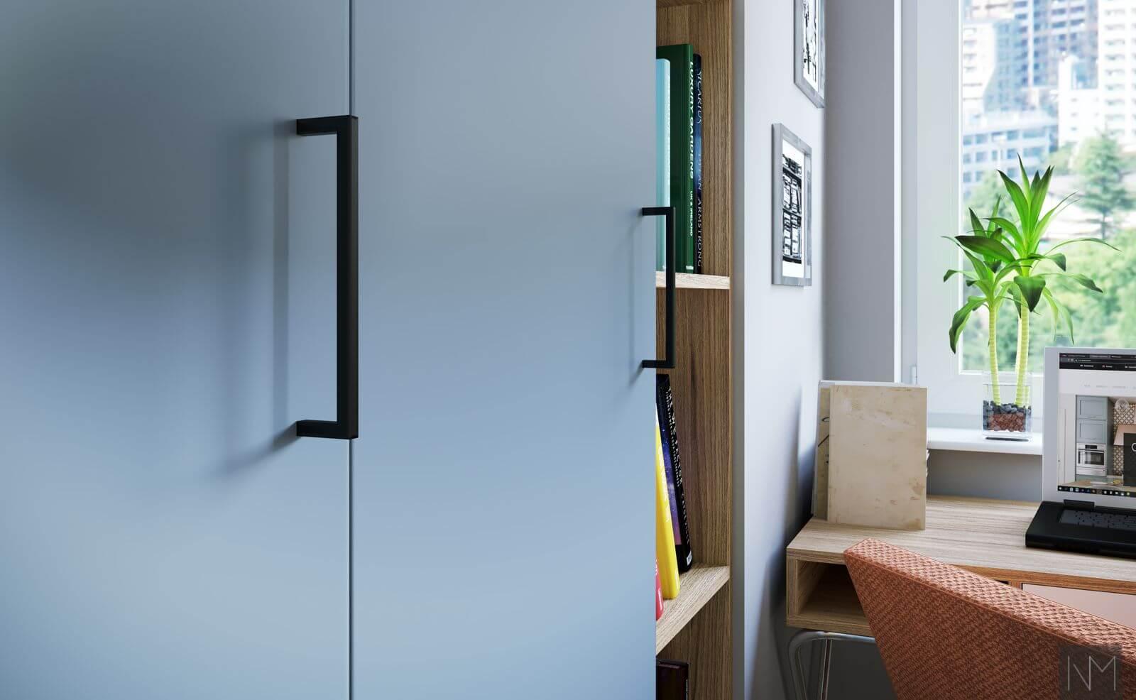 Garderobefronter til PAX garderobe fra IKEA. NCS S3030-R90B