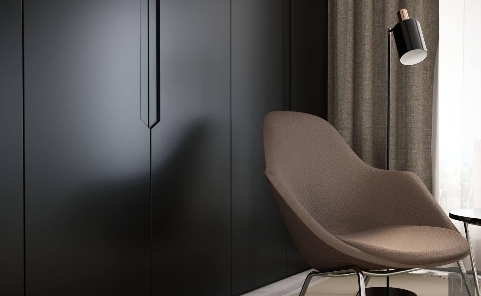 Garderobedører i elegance design. NCS S9000N