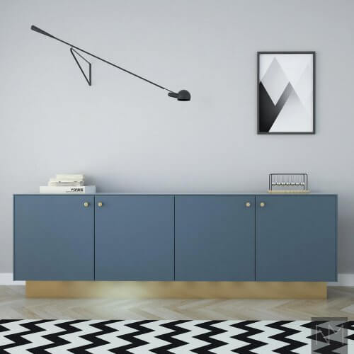 Industrielle blå IKEA-fronter