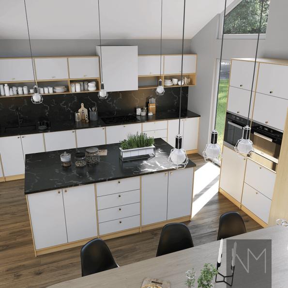 Klassisk hvitt kjøkken