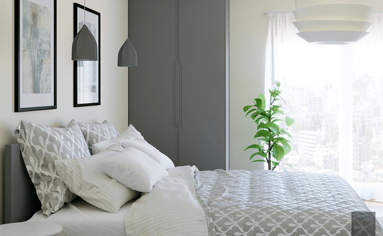 Garderobe plassert på soverommet