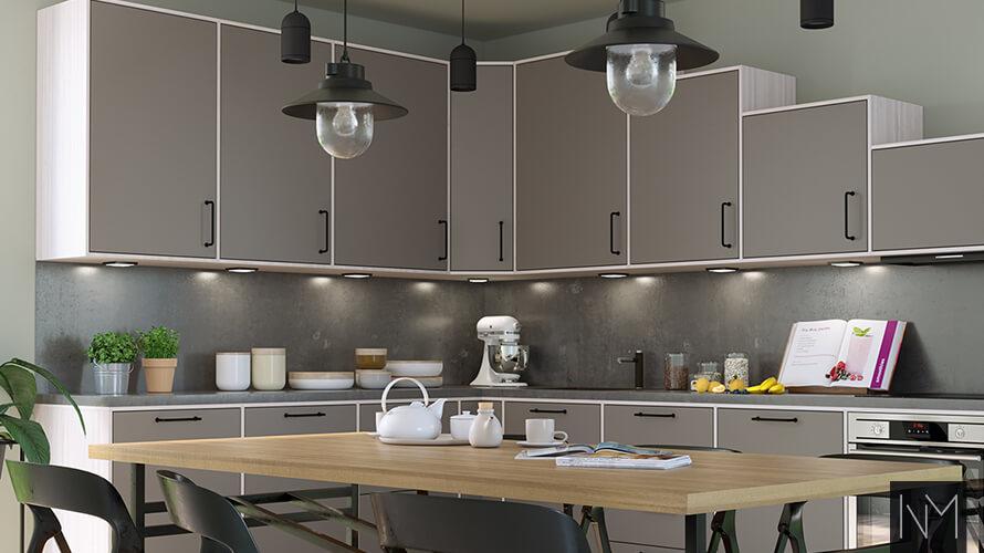 Kjøkkenbord med belysning