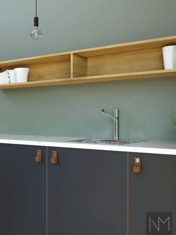 Kjøkkenfronter i design Linoleum Basic. Farge Nero.
