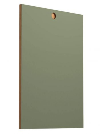 Front panel circle olive linoleum