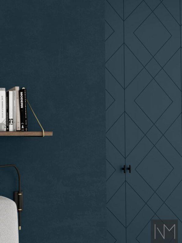 Dører til PAX garderobeskap i Diamond design. Farge Farrow&Ball Hague Blue