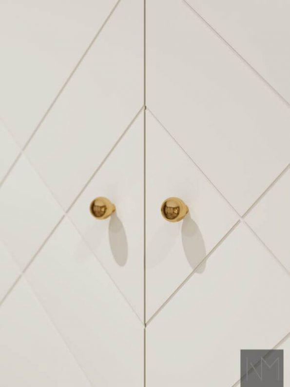 PAX dører i design Diamond. Farge Jotun 12078 Comfort Grey